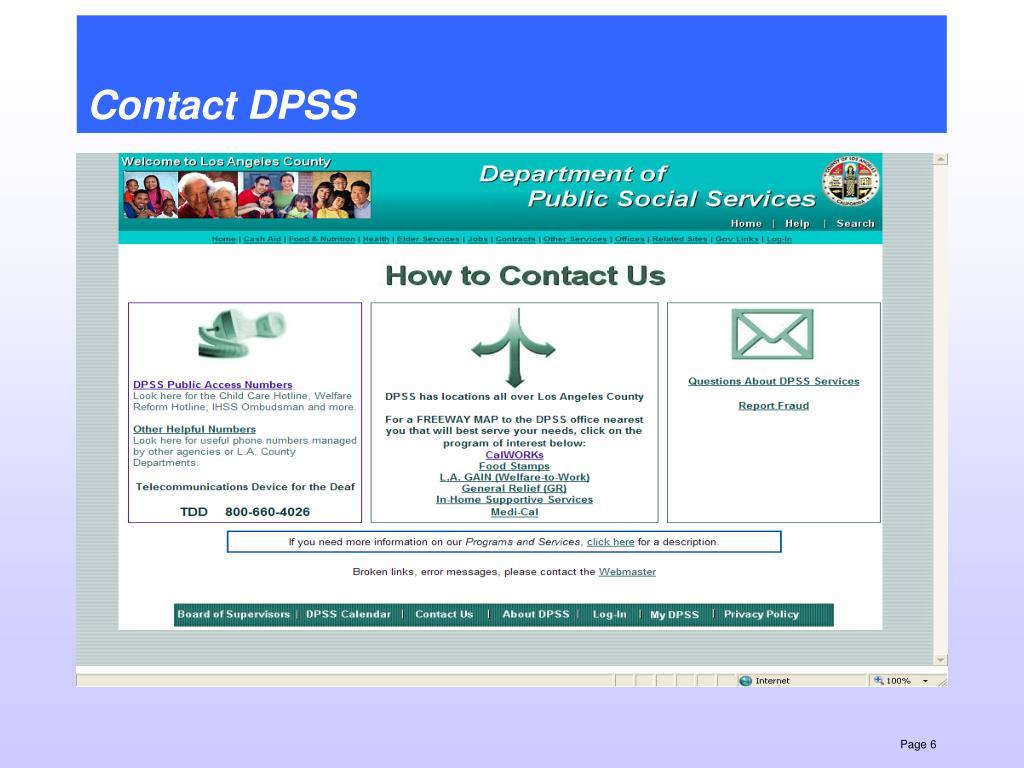 Dpss My Benefits Now
