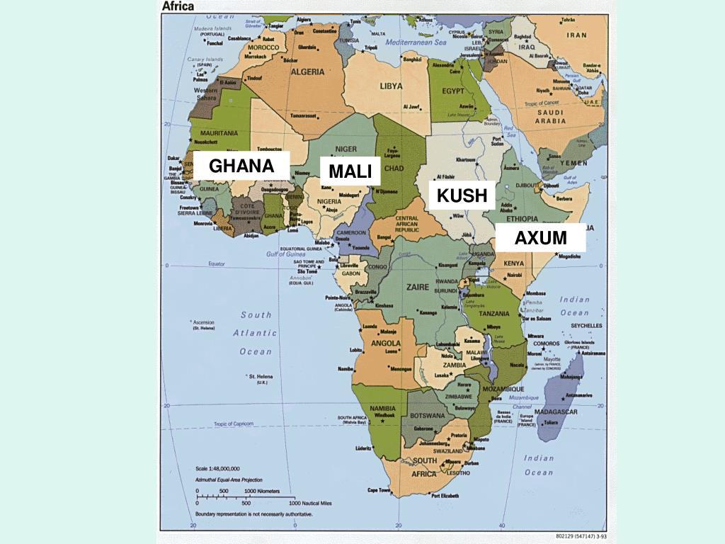 Map Of Egypt And Kush