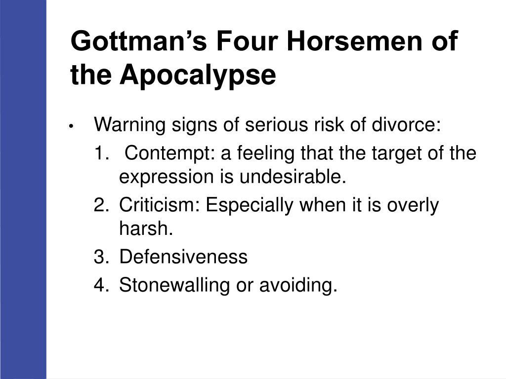 Gottman Four Horsemen Of The Apocalypse Pictures To Pin On