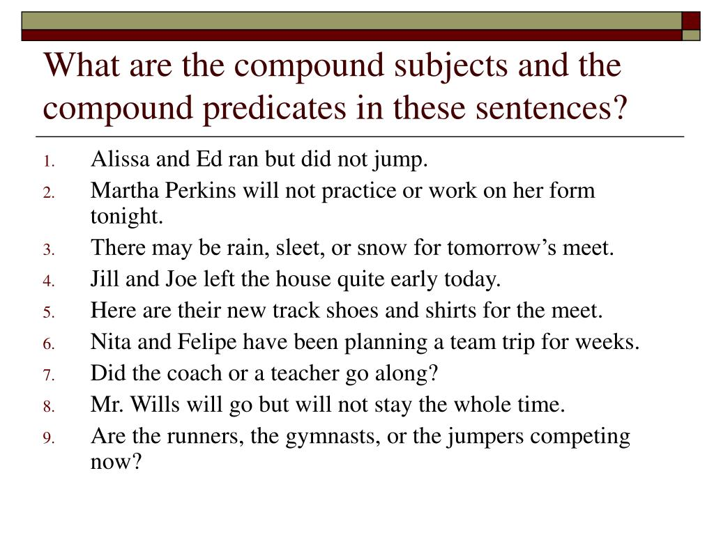 Quiz Simple Subject And Predicate