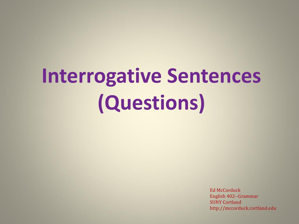 22 1 Example Of Interrogative Sentence Free