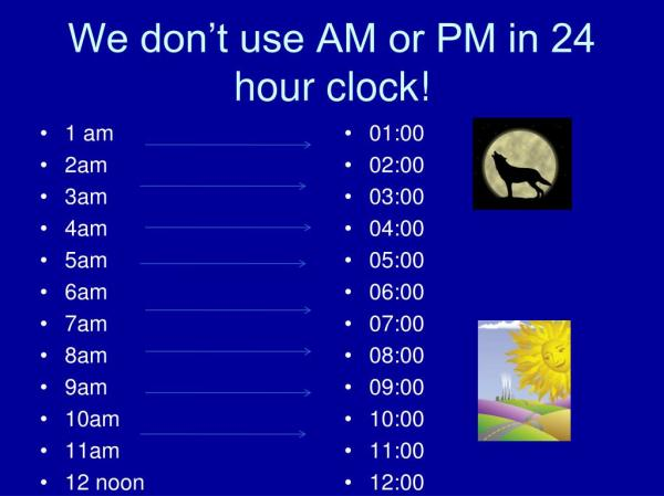 PPT - 24 Hour Clock PowerPoint Presentation - ID:441682