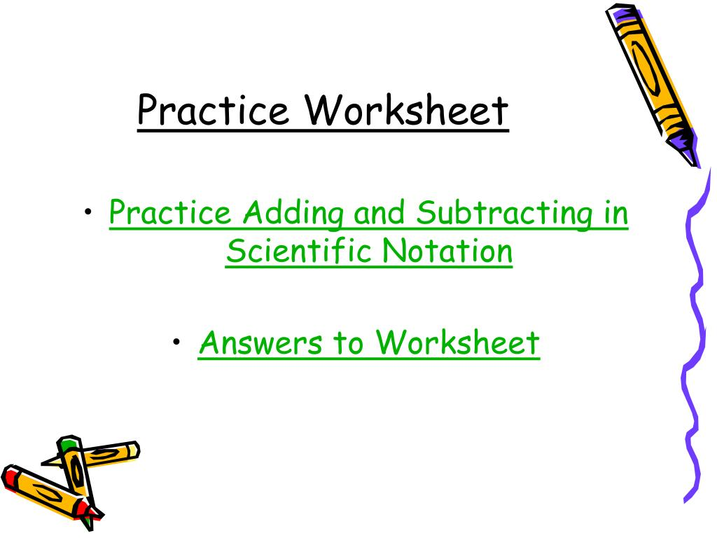 Add Scientific Notation Worksheet Printable Worksheets And Activities For Teachers Parents Tutors And Homeschool Families