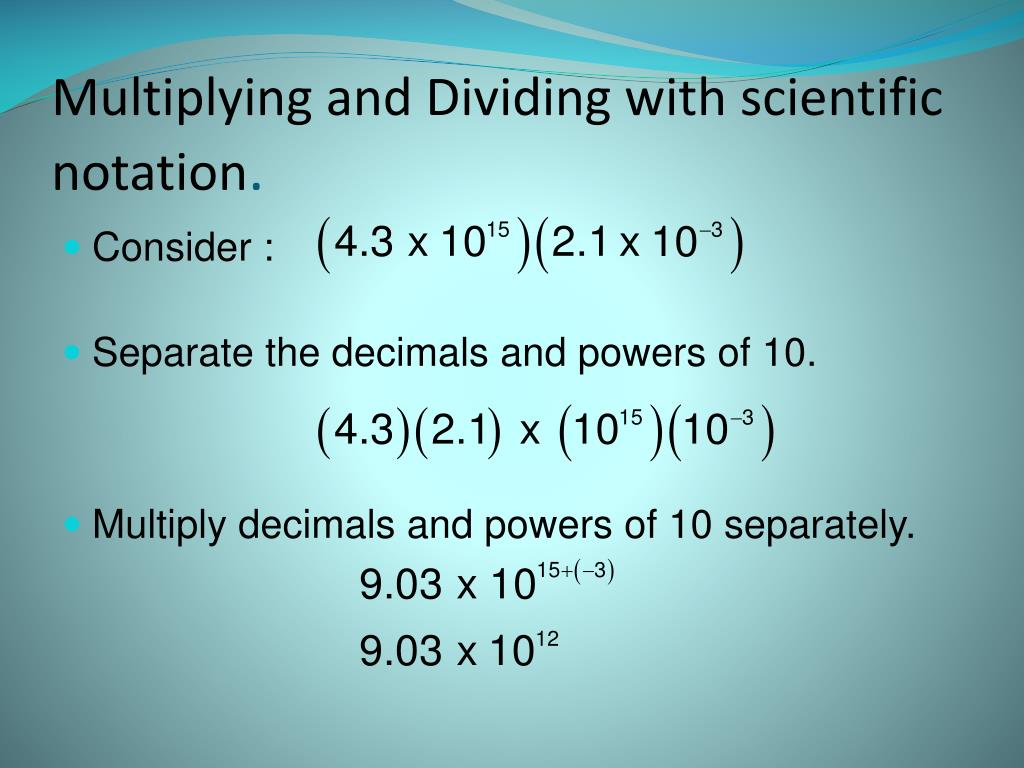 Multiplying And Dividing Exponents Worksheet