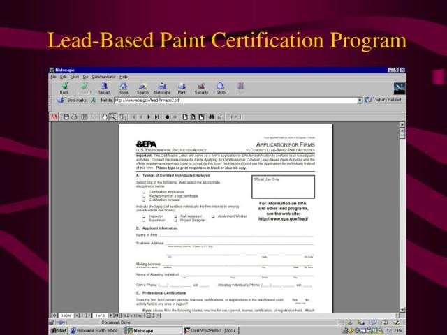 Lead Based Paint Certification Hd Images Pin Wallpaper