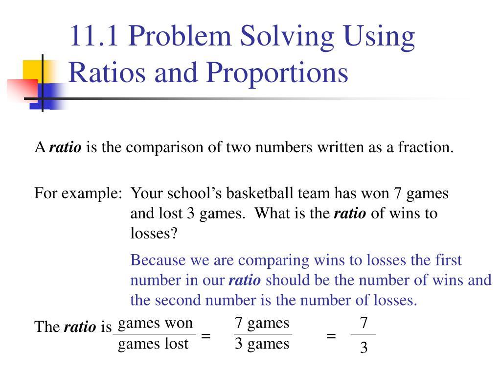 Ratio Worksheet Problem Solving