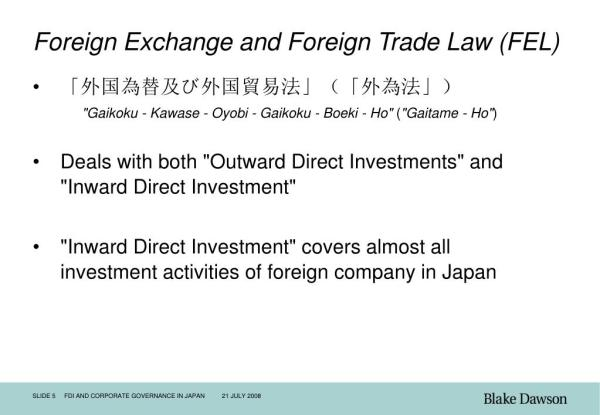 PPT - FDI and Corporate Governance in Japan PowerPoint ...