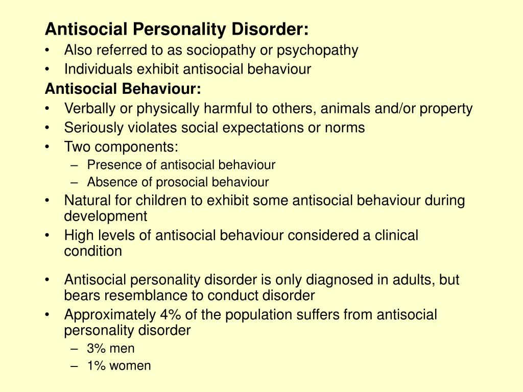 Antisocial Personality Disorder PowerPoint