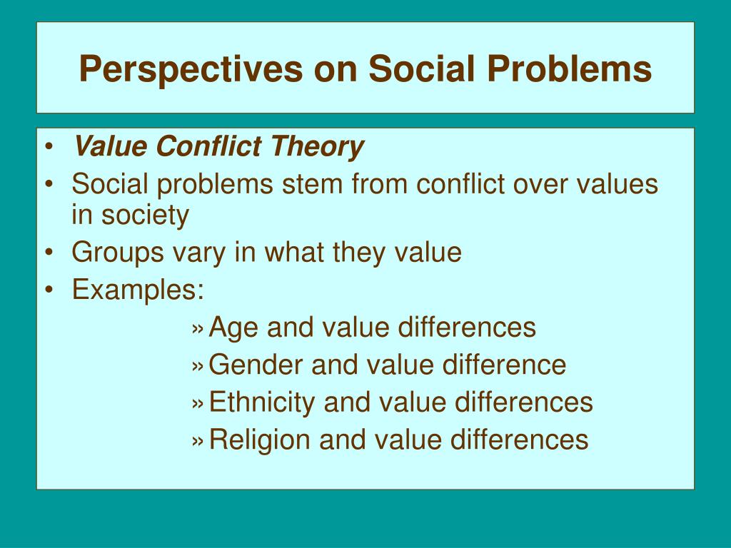 Examples Of Social Problems In Society