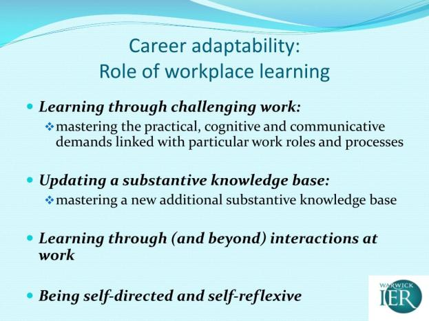 Adaptability: Role of Workplace Learning