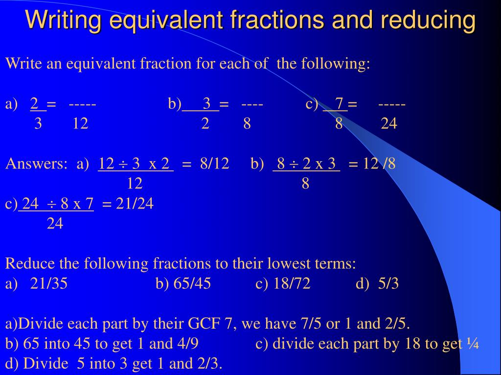 812 Equivalent Fractions