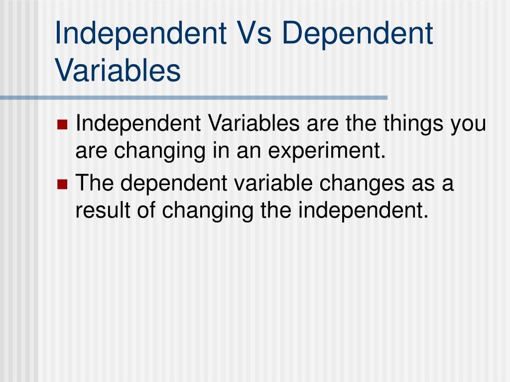 Worksheet Independent Vs Dependent Variables