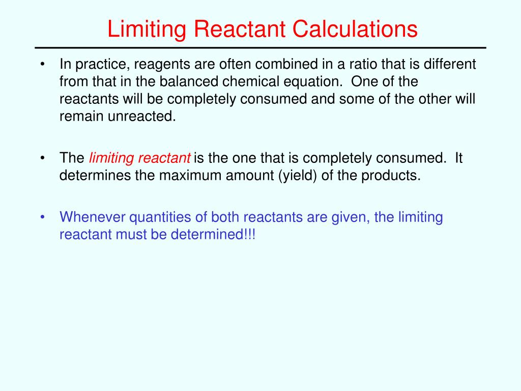 Chemistry Limiting Reactant Problems Answers