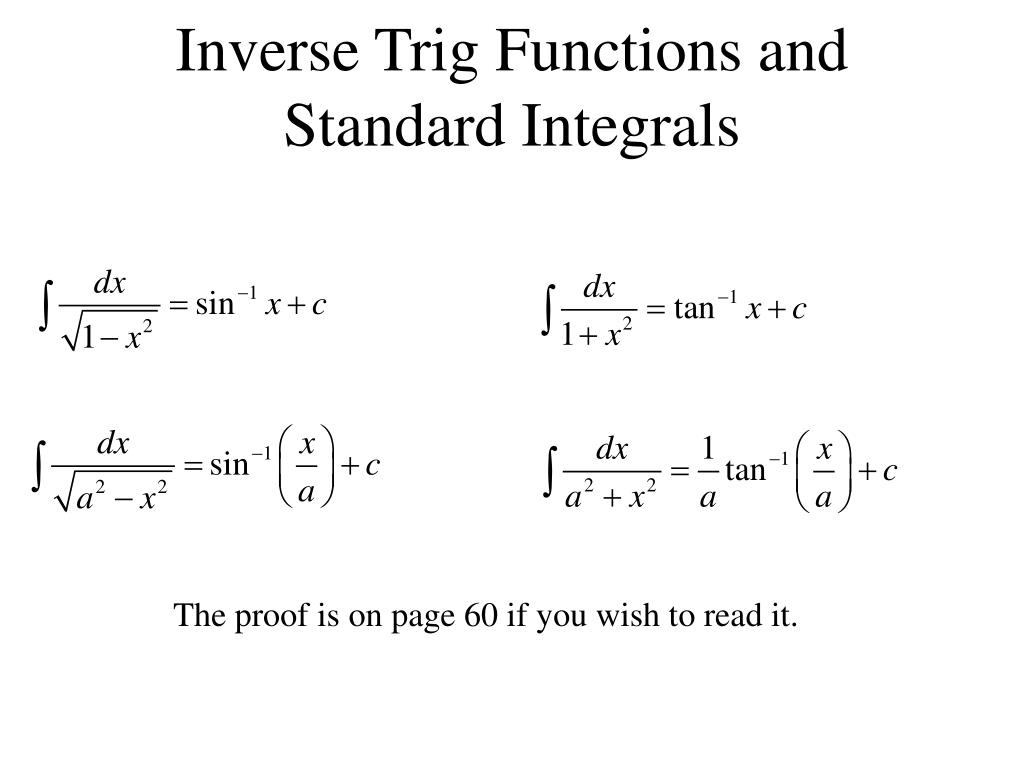Equations Of Inverse Trig Functions