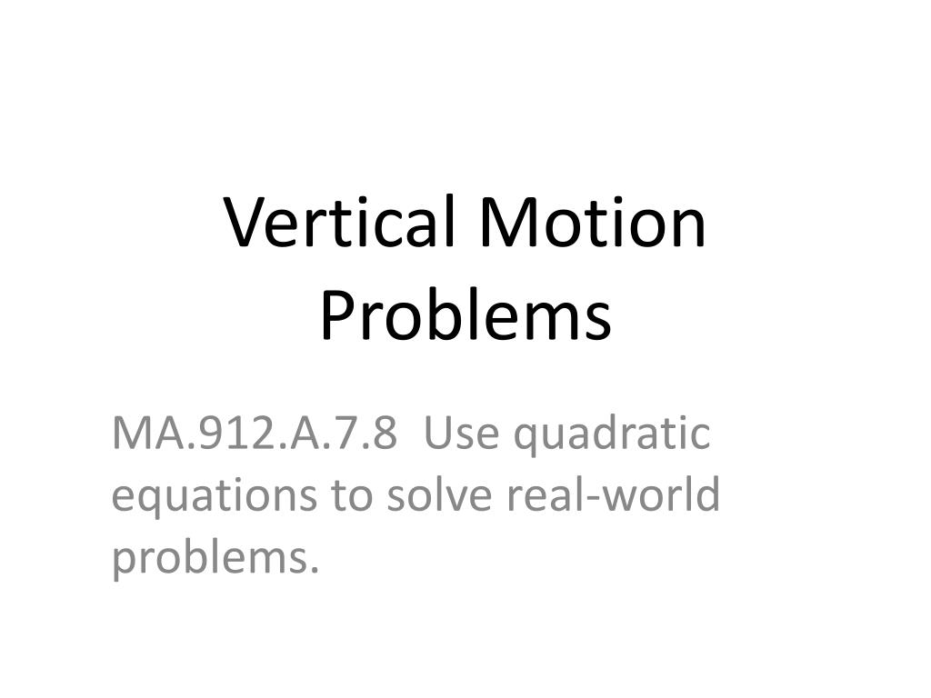 Vertical Motion Equation