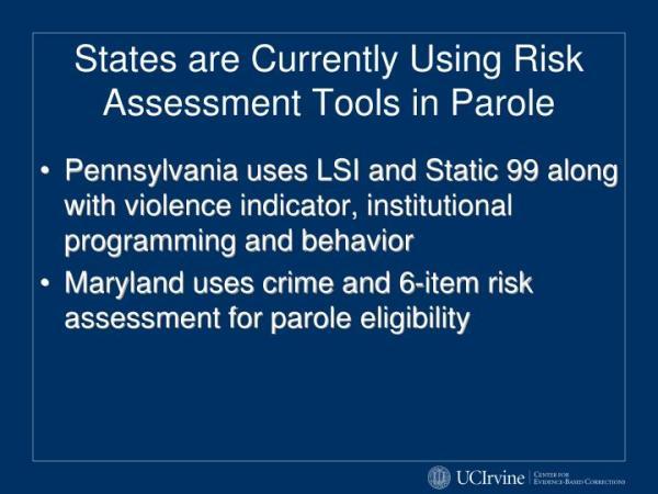 PPT - California Static Risk Assessment (CSRA) PowerPoint ...