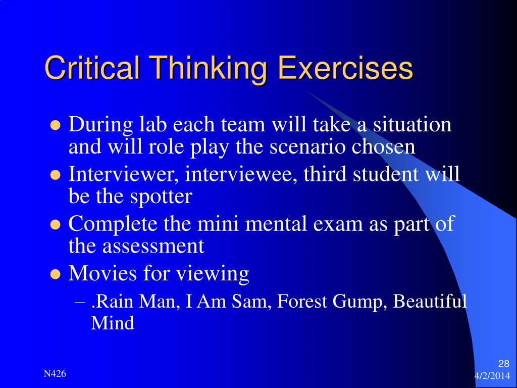 Exercises To Help With Critical Thinking