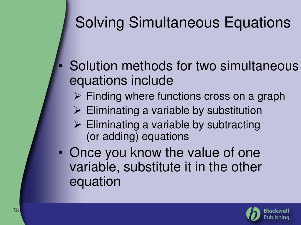 Simultaneous Equations Gcse Tes