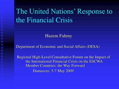 Financial Crisis of United States