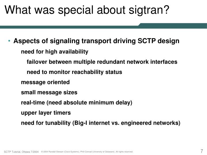 SIGTRAN TUTORIAL PDF