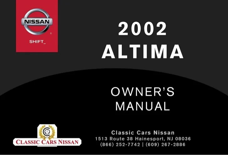 2002 ALTIMA OWNER'S MANUAL