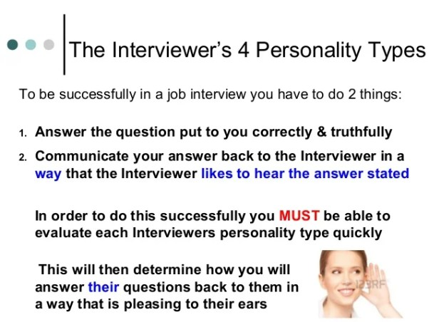 Types of interviewers