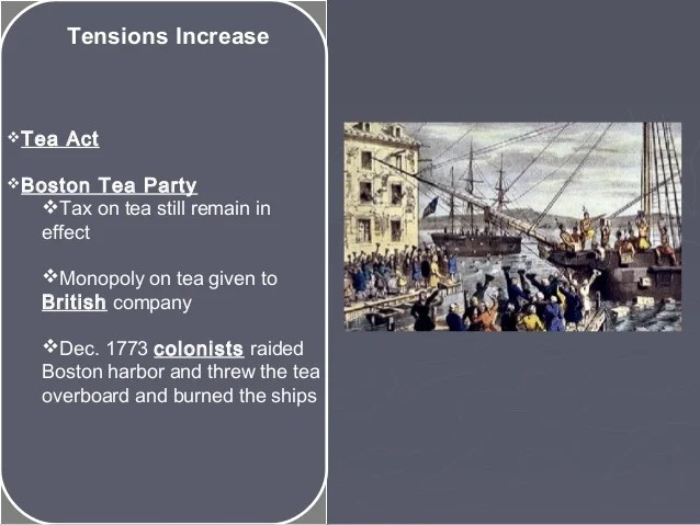 Tea Act 1773 Colonist Reaction