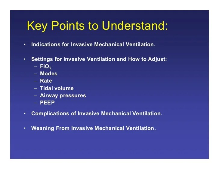 09.17.08(b): Introduction to Mechanical Ventilation