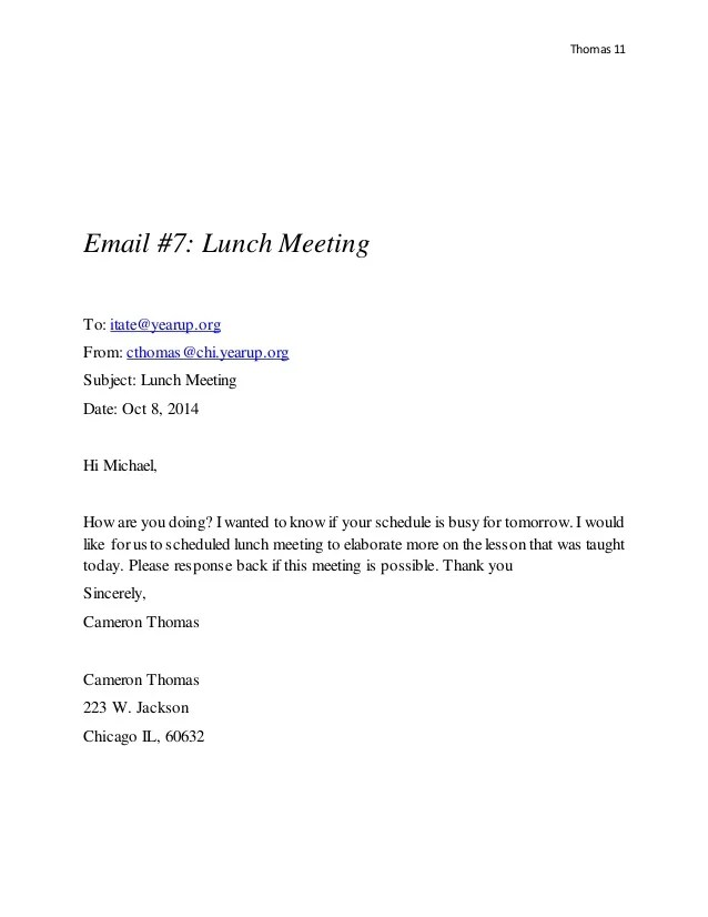 Invitation For Lunch Sample Email Invitationjpg Com