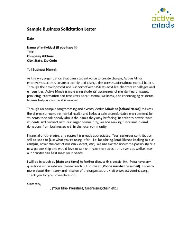 Sample solicitation letter for financial support howtoviews sample of solicitation letter for basketball save altavistaventures Image collections