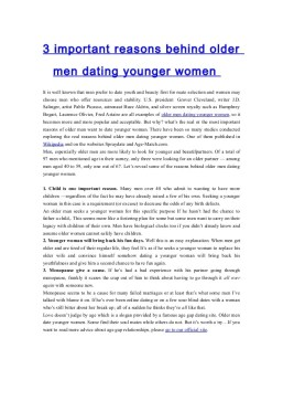 younger women for older men