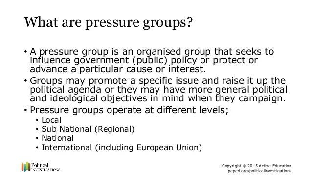 What Are Pressure Groups