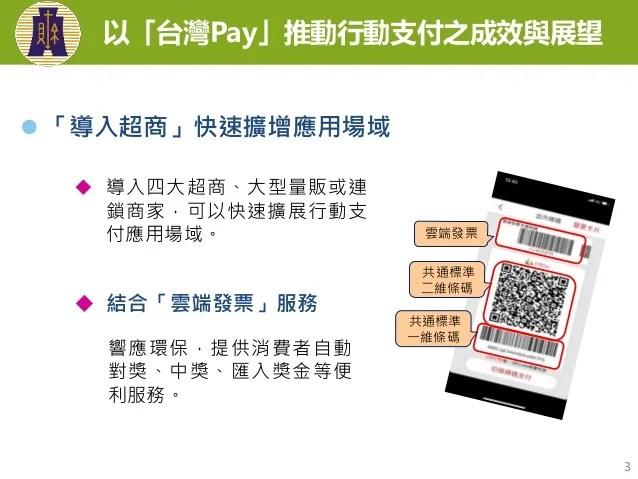 20181206(懶人包)財政部:「以『臺灣Pay』推動行動支付之成效與展望」