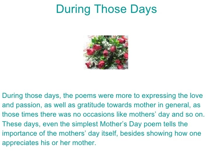 Some Tips on Writing Your Own Mother's Day Poem