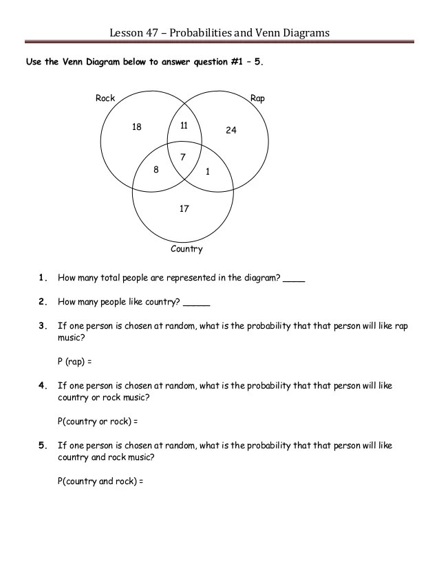 venn diagrams advandced math problem with solution