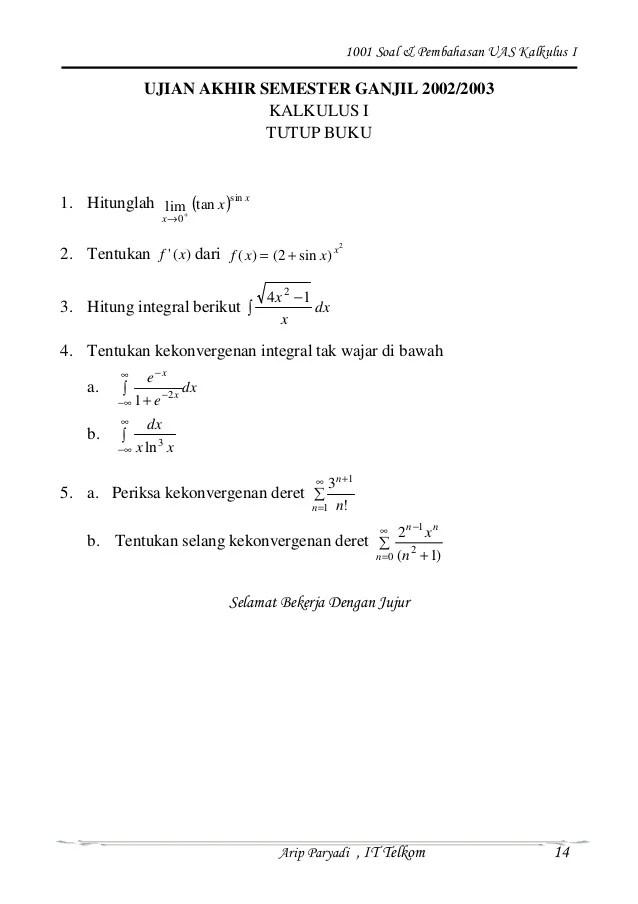 Tentukan persamaan biaya total (c). 1001 Soal Pembahasan Kalkulus