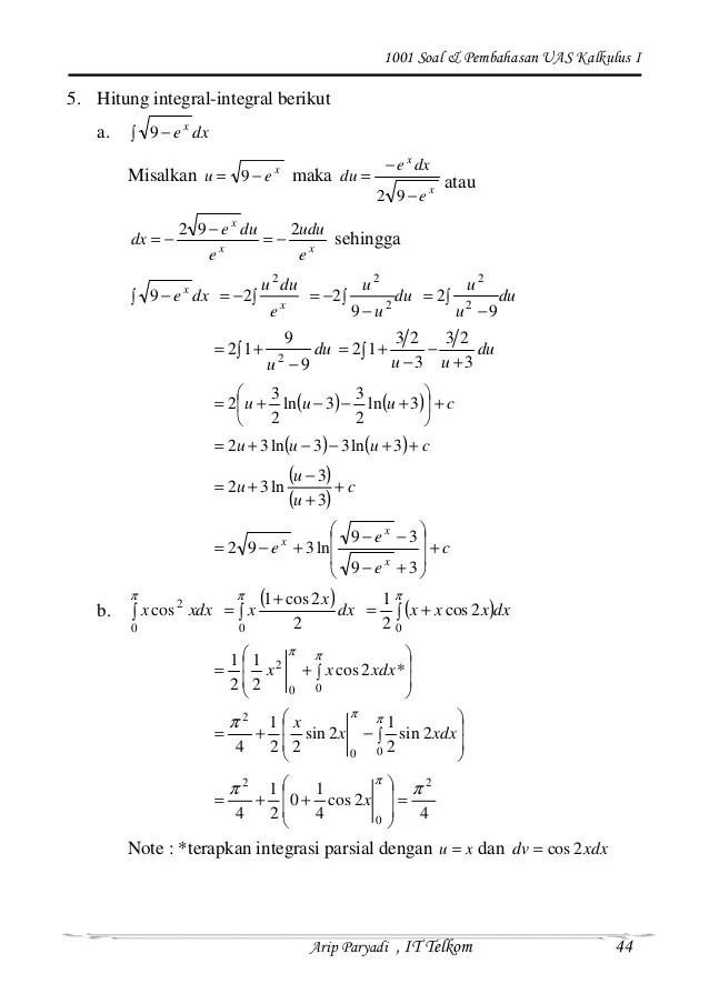 Secara garis besar, contoh soal kalkulus adalah sebuah materi yang amat penting dalam berbagai ilmu, termasuk matematika. Contoh Soal Kalkulus Dan Jawabannya Dengan