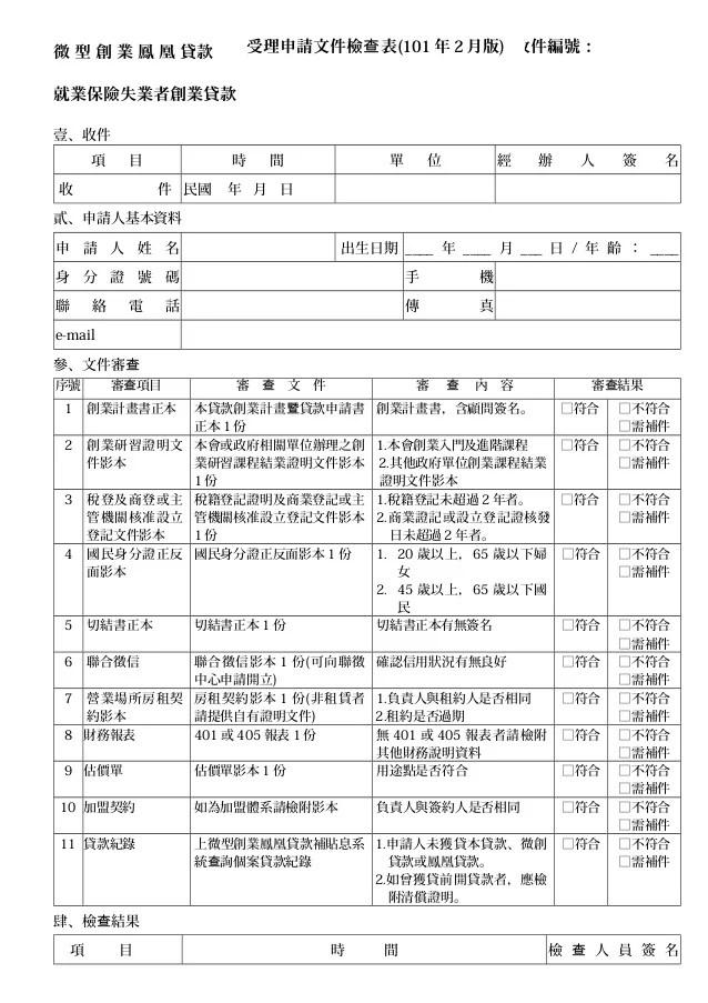 102 創業貸款計畫書-創業鳳凰計畫書(範例)-詹翔霖教授