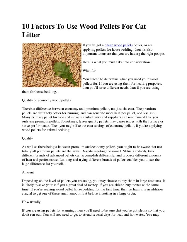 Can I Use Wood Stove Pellets For Cat Litter - The Best Stove 2017