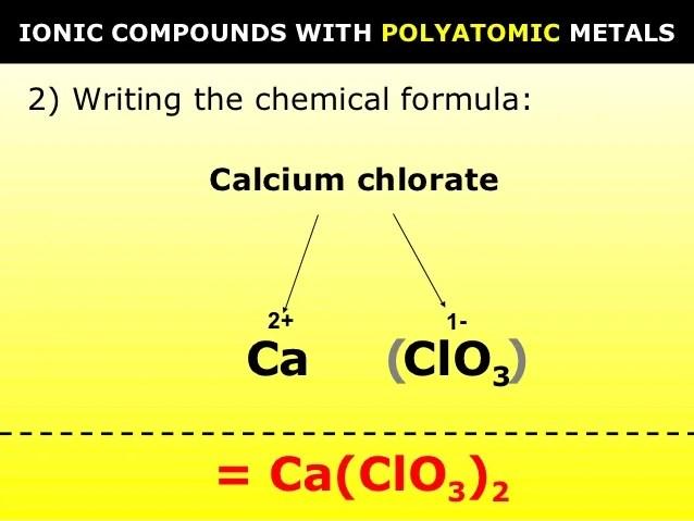 Chemical Formula Oxide Magnesium