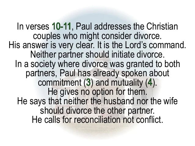Paul Has Say About Singleness