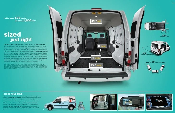 2010 ford transit connect interior dimensions - Transit connect interior dimensions ...