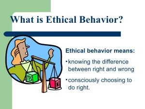 Ethical behaviour