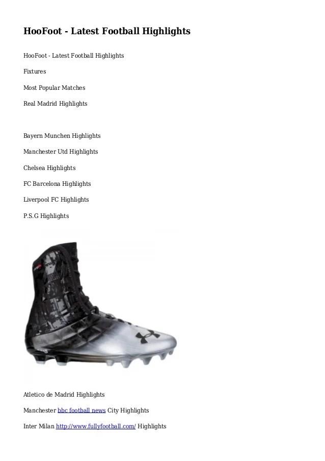 HooFoot - Latest Football Highlights
