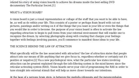 How to Use a Vision Board to Activate the Law of Attraction