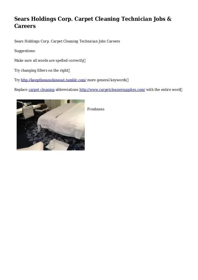 Carpet Cleaner Technician Job Description Www Resnooze Com