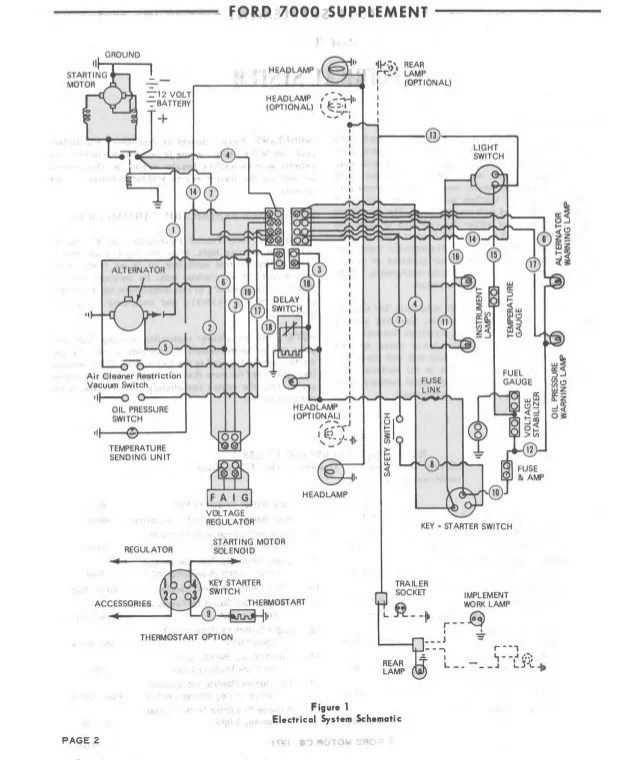 ford 4000 fuse box  description wiring diagrams right