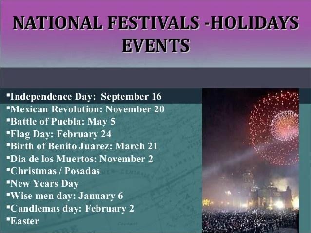 Mexico National Holidays 2012
