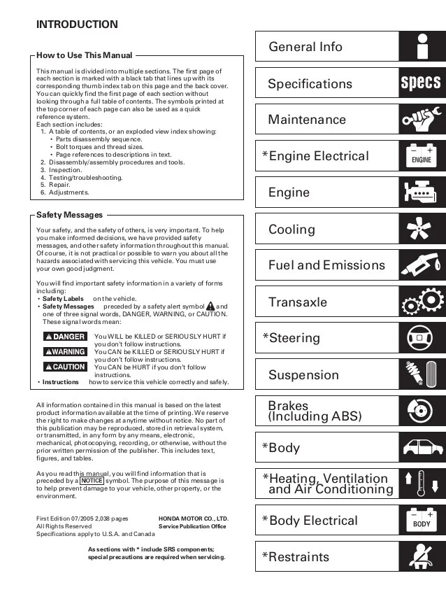2006 acura tsx electrical troubleshooting manual wiring