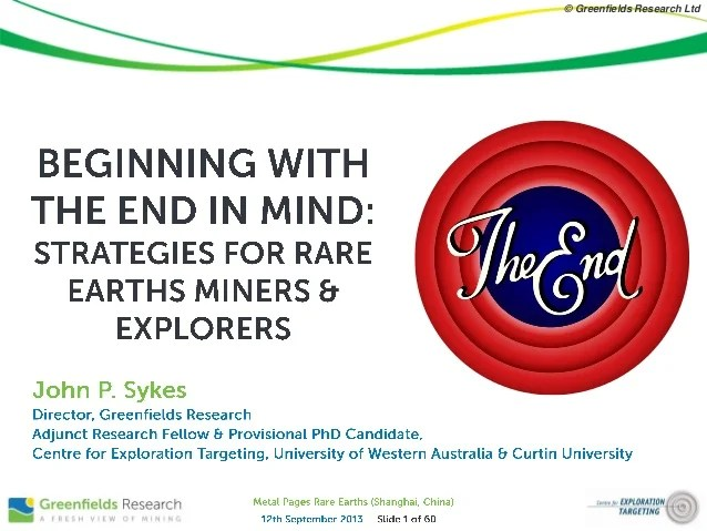 Beginning with the End in Mind: Rare Earths - Sept 2013 ...